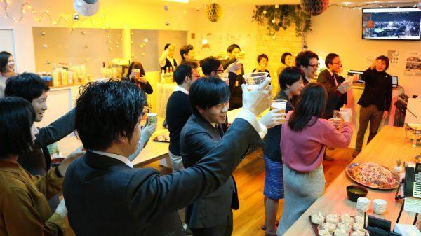 社名変更のパーティー「クリスマス会」を実施しました